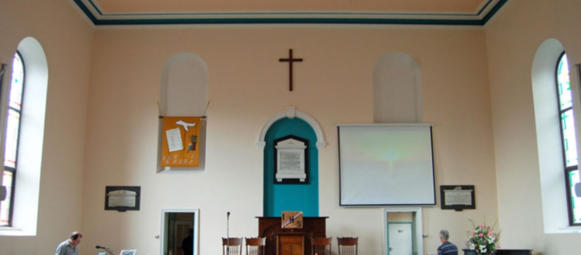 The church interior as it is today, following the latest redecoration in 2012.